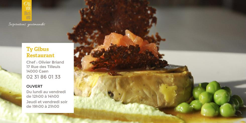 Cuisine bistronomique du restaurant Le Gibus à Caen